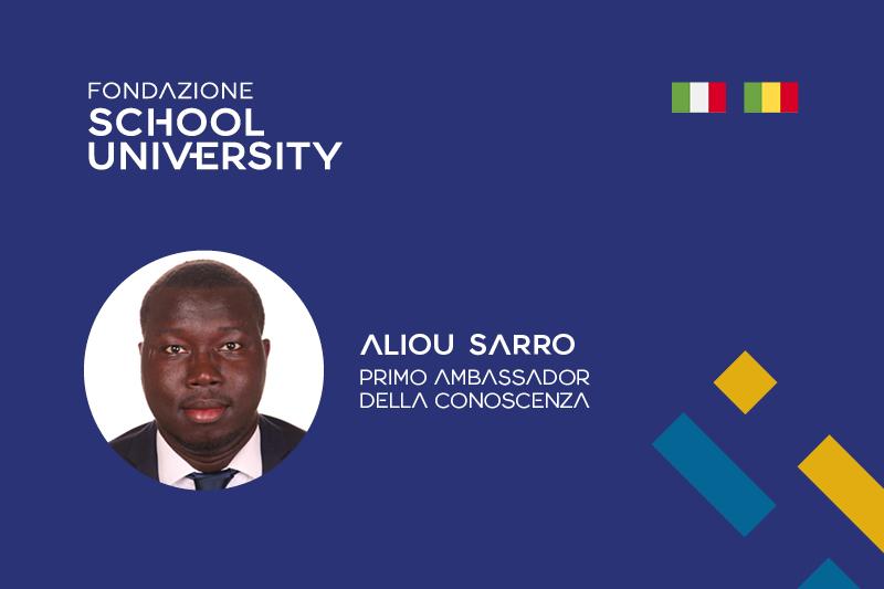 Aliou Sarro è il primo Ambassador della Conoscenza di Fondazione School University
